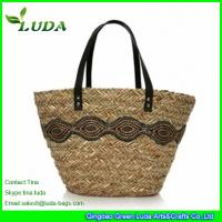 LUDA Natural Seagrass Straw Bags With Black Lace Manufactures