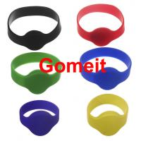 Smart  Custom Rfid Tag Wristband , Rfid Enabled Wristbands High Temperature Endurable Manufactures