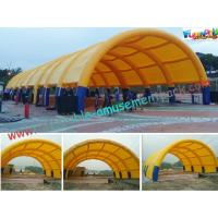 China Waterproof Air Tight Inflatable Party Tent For Wedding Exhibition Yellow on sale