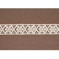Quality Custom Ivory Cotton Lace Crochet Clothing Trimmings for Blouses and T Shirts for sale