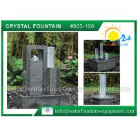 Decorative Cast Stone Outdoor Fountains With Glass Column Polished Surface Manufactures