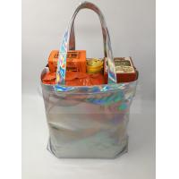 Quality Fashionable Silver Holographic Bag , Laser PU Hologram Shopper Bag Special Design for sale