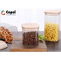 Bamboo Lid Airtight Food Storage Canisters BPA Free High Borosilicate Manufactures