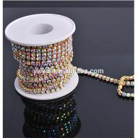 China Enough Stock SS12 SS20 AB Crystal Rhinestone Cup Chain Wholesale on sale