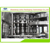Three In One Water Bottle Filling Machine , High Viscosity Liquid Filling Machine Manufactures
