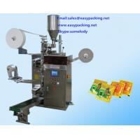 Hot sale factory price  inner and outer tea bag with tags & thread , manipulator tea bag packing machine Manufactures
