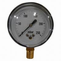 Pressure Gauge for Gas Equipments, Available in Various Materials Manufactures