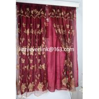 flower embroidery organza curtain, organza curtain Manufactures