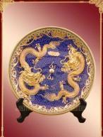 China Cloisonne & Lacquer Dragon Vase on sale