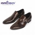 Genuine Leather Dress Shoes Mens Dress Shoes Buckle Strap Walking Dress Shoes Manufactures