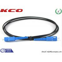 SC FTTH Drop Patch Cord / Fiber Optic FTTH Patch Cable / Outdoor Drop Patch Jumper Manufactures