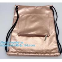 China Custom PU Leather Drawstring Bags Leather Pouches with LOGO,Waterproof PU Leather Drawstring Bag, Bagease, Bagplastics on sale