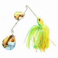 Fishing Lure, Double Colorado/Willow Blade Shape, Made of Jig Head, Measures 1/4, 1/2, 3/4oz Manufactures