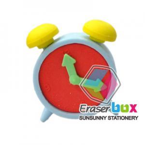 China SES007 Alarm clock shaped school TPR shaped eraser, erasers for kids on sale