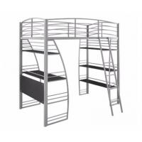 China Iron Bunk Bed New Style Metal Bunk Bed With Desk Portable Home Workstation School Bunk Bed Furniture on sale