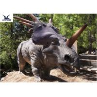 Playground Dinosaur Yard DecorationsVivid With Infrared Ray Sensor Steel Material Manufactures