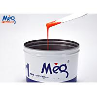 Orange Water Based Ink , Curing Water Based Screen Printing Ink For Paper Manufactures