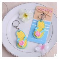 China New creative promotion gift product wedding gift flip flop bottle opener soft rubber on sale