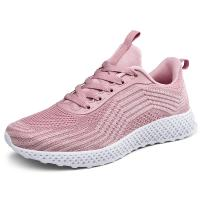 China Pink Color Casual Sneakers Ventilating Shoes Insole Comfort Foot Environment on sale