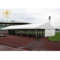 China Custom Logo Aluminium Frame Tent 80kw/H Wind Resistance PVC Roof Cover on sale