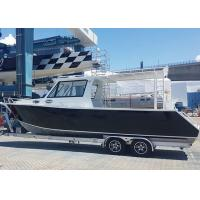 China 9m 30ft Aluminum Fishing Boats Inshore Cruiser With Enclosed Hardtop Plate Hull Structure on sale