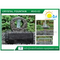 100% Nature Stone Feng Shui Garden Fountain With Crystal Glass Column     Manufactures