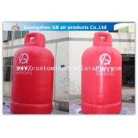 Large Gas Cylinder Red Inflatable Advertising Signs 4mH Commercial Display Manufactures