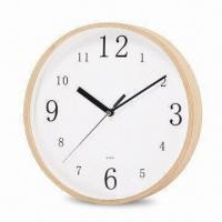 10-inch Wall Clock with Plywood Case, Operated by 1 x AA Battery Manufactures