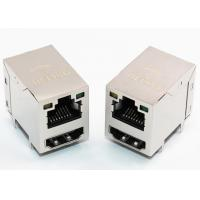 China Shielded Ethernet RJ45 Female Connector + HDMI Stacked Combo With LED Indicator on sale
