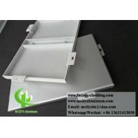 Solid Aluminium Wall Cladding Panels For Building Facade Powder Coated With Bracket Manufactures