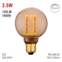 G80 Bulb, Deco Light, E27 LED Bulb, Fashionable Glass Bulb, 1800K Lamp Manufactures