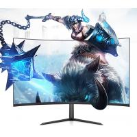 China Flicker Free FHD Curved PC Gaming Monitor 32 Inch With 3 Side Borderless Frame on sale