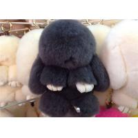 Luxury Colorful Fluffy Rabbit Keyring Portable For Handbag Charm Pendant Manufactures