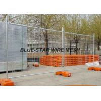 Hot Dipped Galvanized Welded Wire Fence Panels , Temporary Wire Mesh Fence Panels Manufactures
