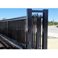 Garrison Security Fencing steel picket Fence for sale 65mm x 65mm x 3000mm post Manufactures