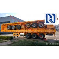 2/3/4 Axles Flatbed Semi-Trailer For Transporting Containers, Jost Support Leg,  Fuwa Axle/ BPW Axle Manufactures