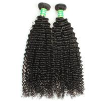 China Easy to dye  real mink virgin brazilian hair bundles, Curly malaysian hair weft on sale