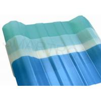 Weather Proof Clear Corrugated Plastic Roofing Sheets , Translucent Roof Tiles Manufactures