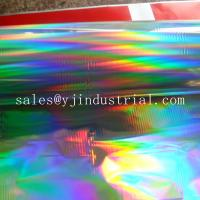 custom seamless rainbow pattern PET holographic cold lamiantion film of manufacter Manufactures