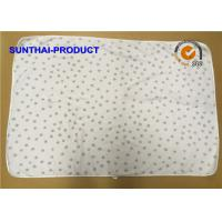 Chenille Plush Baby Blankets Round Corner Big Dots All Over Print SGS Approved Manufactures