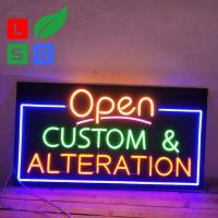 LED Neon Open Sign Black Square Backboard Vintage Neon Beer Signs Manufactures