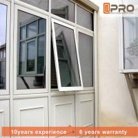China Aluminum Alloy Modern Awning Window , Space Saving Awning Glass Window awnings vertical window aluminium window awnings on sale
