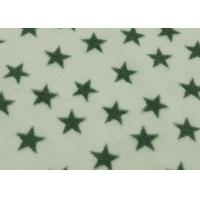 China White Fleece Fabric Star Design , 100 Polyester Fleece Fabric Flame Retardant on sale