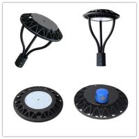 Spot Lighting Post Top Light Fixtures , Circle LED Post Top Street Light Manufactures