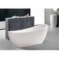 China Extended Backrest Acrylic Massage Bathtub / Stand Alone Tubs Easy Installed on sale