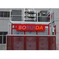 Floor / Sliding Door Construction Material Lifting Hoist Single Or Double Cages Manufactures