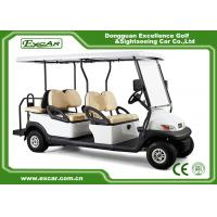 White Hotel Elegant 6 Person Used Golf Cart  With ADC Separately Motor Manufactures