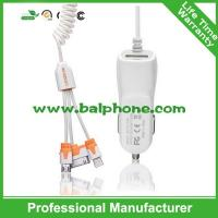 China portable Single USB Car Charger+micro cable/i6 cable for OEM factory wholesale on sale