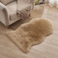 China hot sell sheep skin shape faux wool Shaggy Carpet Comfortable machine washed Rug Suede backing Luxury feeling 60x90cm on sale