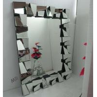 Framless 3D Wall Mirror 78 * 104cm Size Faceted Mirror MDF Back Material Manufactures